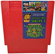 500 in 1 Super Games Multi Cart 72 Pin 8 Bit Red game cartridge