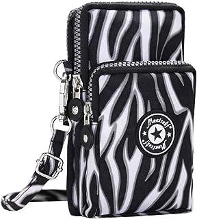 Wiwsi 3 Layers Mini Crossbody Shoulder Bag Wristlet Handbag Clutch Purse Wallet
