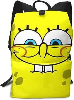 CHLING Lightweight Adult Backpack Briefcase Laptop Shoulder Bag Spongebob Wallpaper Classic Basic Daypack Bag