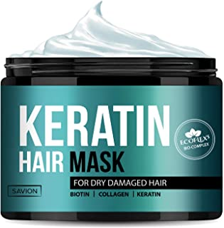 Keratin Complex Hair Treatment Mask for Deep Repair Damaged Hair Root and Dry Damaged Hair, ECOFLEX5 Complex with Keratin,...