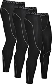 Men's 1~3 Pack Compression Pants Cool Dry Baselayer Workout Running Tight Leggings