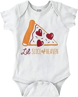 Little Slice Heaven Pizza Pepperoni Hearts Romper Bodysuit