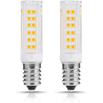 E14 Bombilla LED campana extractora, Rosca Edison Pequeña, 7W Equivalente a Bombillas Halógena de 60W Blanco Cálido 3000K 500lm, 360 ° Ángulo de Haz, No Regulable, 2 Unidades: Amazon.es: Iluminación