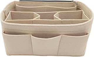 Felt Handbag Insert Organizer Bag In Bag with Big Side Zipper Pocket Fit Speedy Neverfull