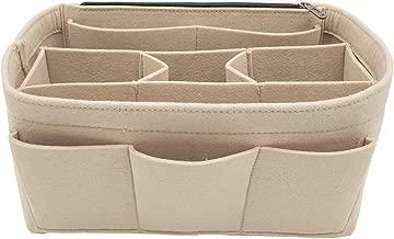 Felt Insert Bag Organizer Bag In Bag For Handbag Purse Organizer with Zipper Pocket Fits Speedy Neverfull