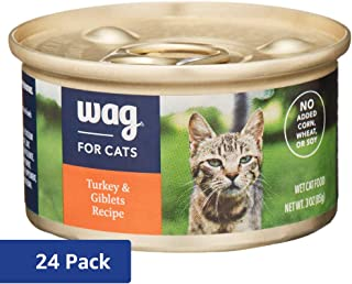 Amazon Brand – Wag Wet Cat Food 3 oz (Pack of 24)