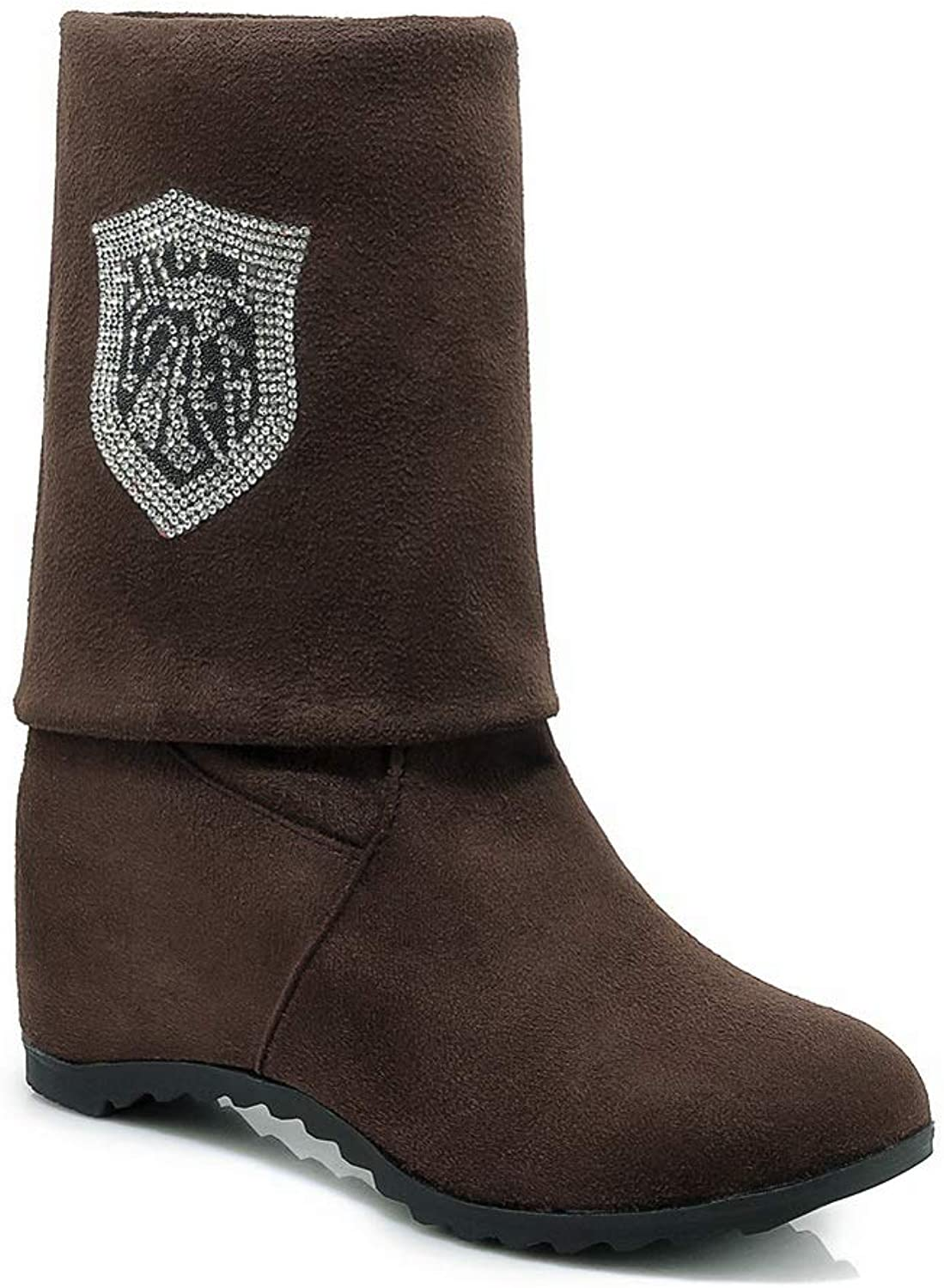 AdeeSu Womens Beaded Solid Casual Urethane Boots SXC02981