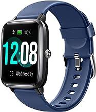 ساعت هوشمند Letsfit ، ردیاب تناسب اندام با مانیتور ضربان قلب ، ردیاب فعالیت با صفحه لمسی 1.3 اینچ ، ساعت هوشمند گام شمار ضد آب IP68 با مانیتور خواب ، شمارنده مرحله برای کودکان ، زنان و مردان