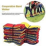 kaersishop Cooperative Band Walker Ensemble de Bande de Course à 5 ou 10 Jambes pour Enfants, Jeu de Course à Relais, Jeu de Relais (Red)