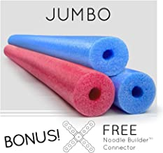 3 Pack Oodles Monster 55 Inch x 3.5 Inch Jumbo Swimming Pool Noodle Foam Multi-Purpose