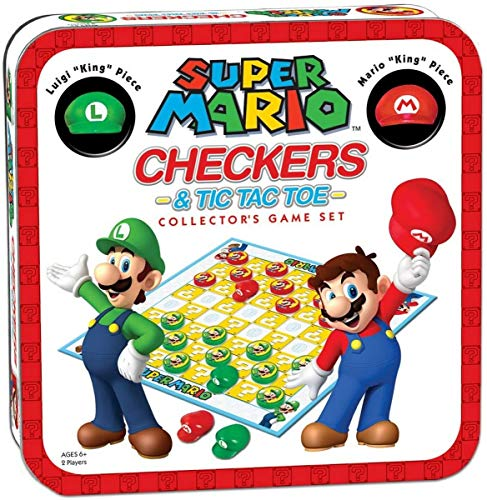 Super Mario Checkers & Tic Tac Toe Collector's Game Set