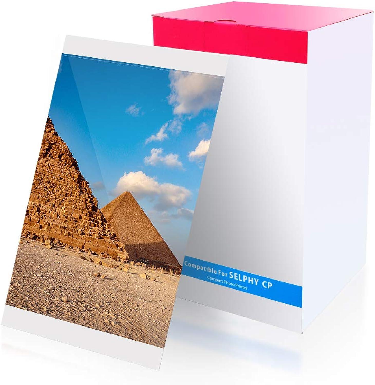 Kompatibel Selphy KP-108IN Fotopapier, 100 100 100 x 148mm Postkartengröße für Selphy CP Fotodrucker Serie CP1200 CP1300 CP1000 CP910 CP810 CP800 (3 Druckerkartusche, 108 Blatt Papier) B07CNPPM57 | Erlesene Materialien  201dff