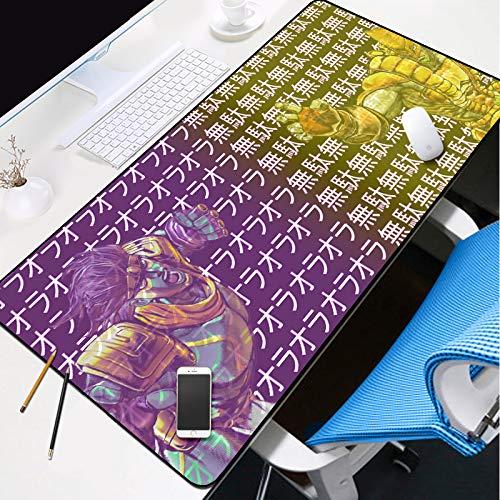 JoJo's Bizarre Adventure rechthoek muismat, niet-slip Anime vergrendelen rand muizen pads uitgebreid mat toetsenbord pad voor desktop 30x80cm(12x31inch) R