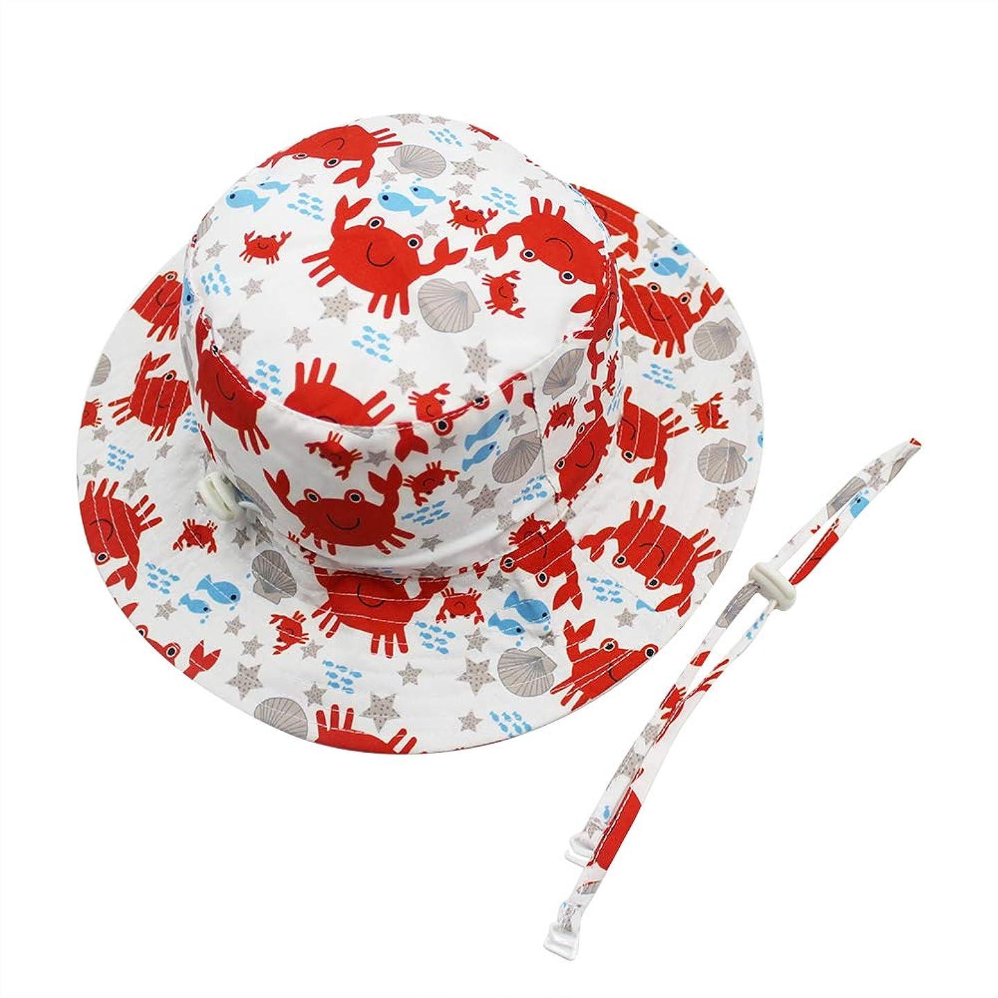 Kid Toddler Boys Girls Sun Hat UPF 50+Adjustable Outdoor Beach Bucket hat Chin Strap