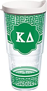 Tervis Sorority - Kappa Delta Geometric Tumbler with Wrap and White Lid 24oz, Clear