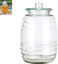5 Gallon Glass Barrel Jar Vitrolero Aguas Frescas Water Juice Beverage Container With Lid Fiesta Catering Party Wedding