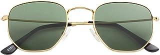 Small Round Polarized Sunglasses for Men Women Mirrored Lens Classic Circle Sun Glasses