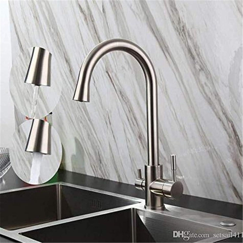 Chrome Kitchen Sink Tap3 Ways Sink Mixer Water Filter Tap 304 Sus Kitchen Fittings Drinking Water Fittings Brushed Taps
