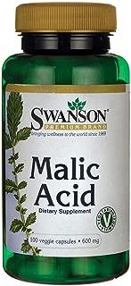 Swanson Malic Acid 600 Milligrams 100 Veg Capsules