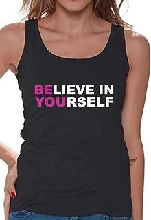 Awkward Styles Women's Believe in Yourself Tank Top Fitness Neon Tank