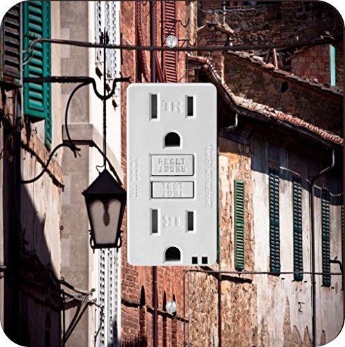 Rikki Knight 8946 Tuscan Historic Architecture Design Placa de interruptor de luz