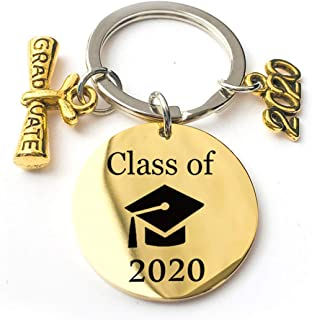 EJY Simple Stylish Letter Keychain 2020 Graduation Key Chain Jewelry Her and Him