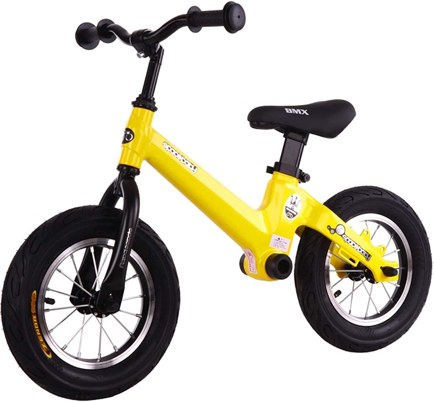 ZAQ Balance Bikes 5 Year Old - Aluminum Portable Training Bicycle for Girl Boy Kid, 32cm(12 inch) Air Wheels (color   A)