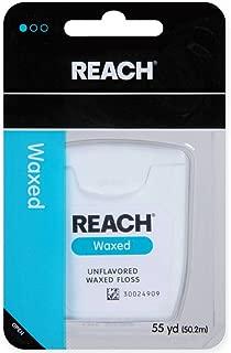 REACH Unflavored Waxed Dental Floss, 55 yds