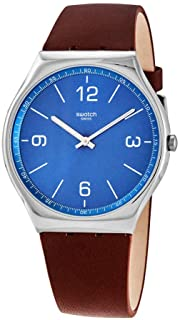 Swatch SKINWIND Sun-Brushed Blue Dial Men's Watch SS07S101