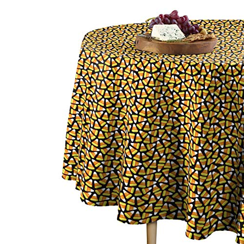 Fabric Textile Products Round Tablecloth, 100% Milliken Polyester, Machine Washable, 60