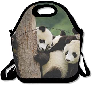 Baby Panda Lunch Tote Bag Lunchbox With Adjustable Shoulder Strap For Work Kids Women Men
