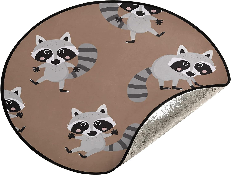 xigua 28.3 Ranking TOP12 Inch Christmas Tree Stand Animal Raccoon Mat Daily bargain sale - W Cute