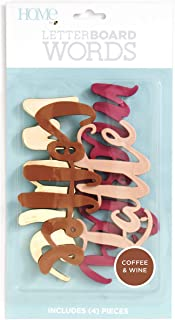 DCWVE Die Cuts with A View Word Pack Letterboard-Coffee/Wine (4) LP-006-00023, Coffee & Wine