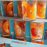 Luminarc Juego de 3 vasos de agua potable, 30 cl, flores rojas, naranja