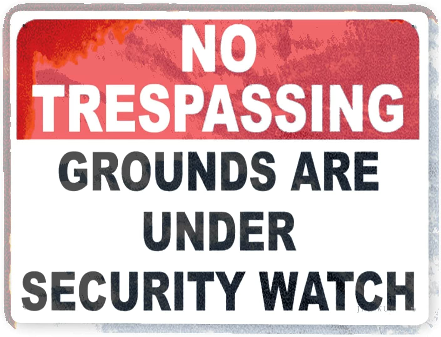 J.DXHYA Man Cave Decor Mail order cheap 2 Pieces no Warning Grou Sign New color Trespassing