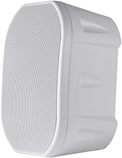 Monoprice 6.5-inch Weatherproof 2-Way Speakers with Wall Mount Bracket (Pair White)