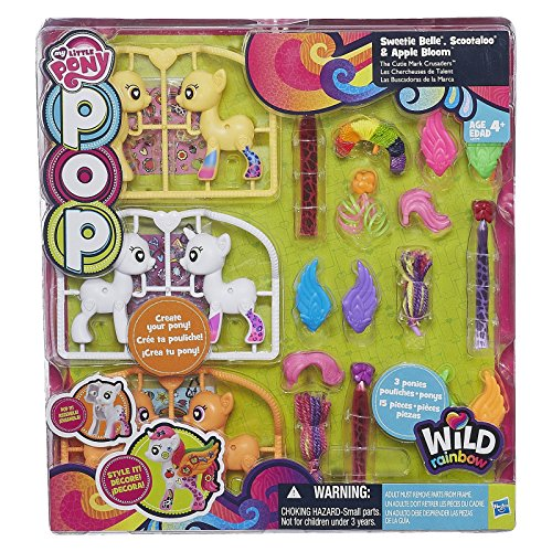My Little Pony POP Bausatz - Sweetie Belle - Scootaloo und Apple Blomm - 3 Pony s - 15 Teile