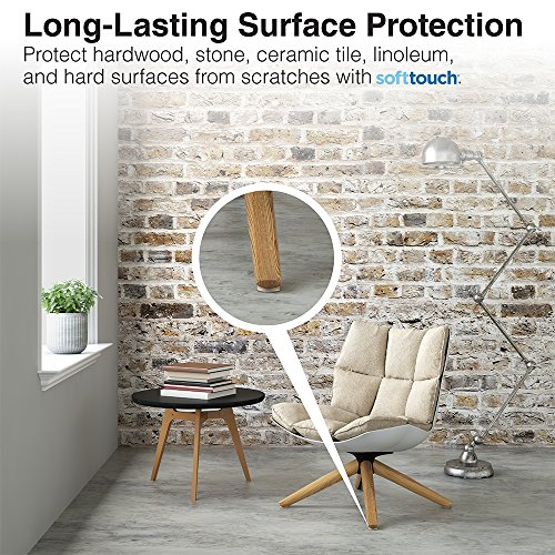"""Self-Stick Furniture Round Felt Pads for Hard Surfaces – Protect your Hard Floors from Furniture Marring and Scratches, 1"""" Linen, Round (48 Pieces)"""