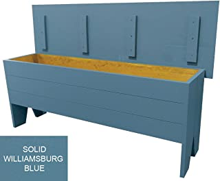 Sawdust City Primitive Storage Bench 4' Long (Solid Williamsburg Blue)