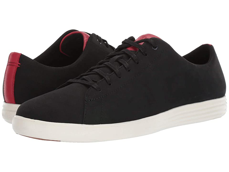 Cole Haan Grand Crosscourt Sneaker (Black Nubuck/Tango Red) Men
