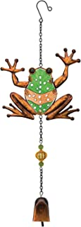 Regal Arts & Gift Garden Bell 7.25 Inches X 1.5 Inches X 19.5 Inches Metal/Glass/Acrylic Frog