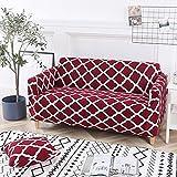 Funda de sofá con Estampado de Rayas Modernas Fundas de reposabrazos Fundas de sofá con Todo Incluido Funda de sofá seccional elástica Estilo L A17 2 plazas