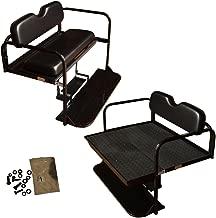 Performance Plus Carts Club Car Precedent Golf Cart Flip Folding Rear Back Seat Kit - Black Cushions