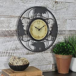 FirsTime & Co. Wildlife Wire Wall Clock, 11, Brown/Black