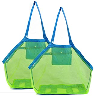 Amiaus 2 Pack Extra Large Mesh Beach Bag Childrens' Toy Storage Swimming Equipment Storage Bag Laundry Tote Backpack,Stay ...