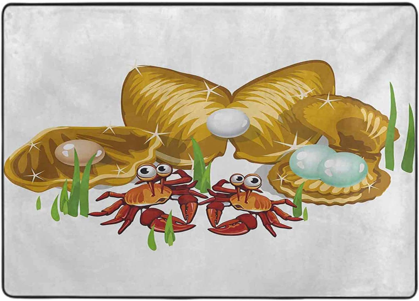 Collection Area Rug Ranking TOP14 Life Theme Cartoon Ultra-Cheap Deals Gold Style Three Shells