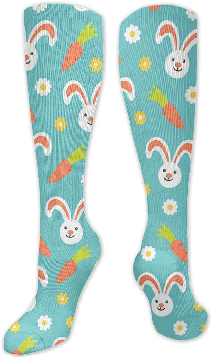 Rabbit And Carrot Knee High Socks Leg Warmer Dresses Long Boot Stockings For Womens Cosplay Daily Wear