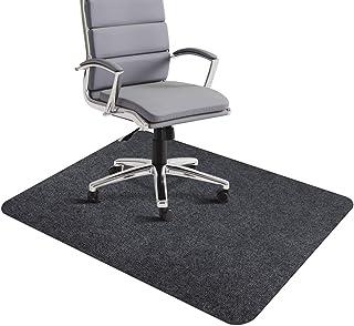 チェアマット 140x90cm ずれない フローリング 椅子 床 保護マット 傷防止 滑り止め 丸洗い可能 カット可能 吸音 幅広く使える 足元マット フロアマット グレー