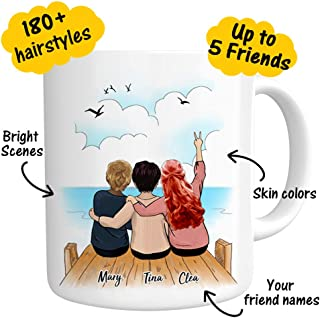 MY PHOTO MUGS Funny Personalized Friendship Coffee Mug - Perfect Gift Idea For Friend Graduation Women Men BFF Bridesmaid Bridesmaid - Customizable Name Words Picture Custom Coffee Mug