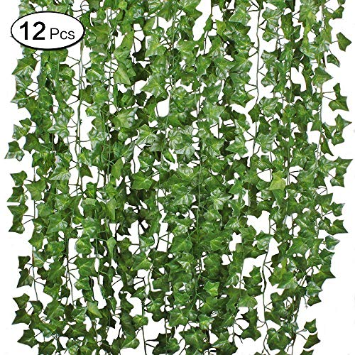 LANGING 12 Strengen Kunstmatige Ivy Garland Bloemen Nep Ivy Ophangende Wijnstok Plant voor Huis Tuin Decor 84Ft